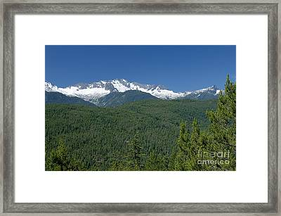 Mountain View Along The Sea To Sky Highway Framed Print