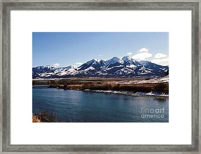 Mountain View Framed Print by Sharon Elliott