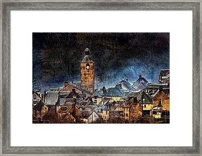 Mountain Village In France Framed Print