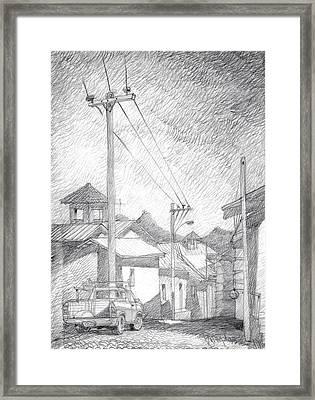 Mountain Village. Framed Print by Serge Yudin