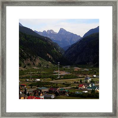 Mountain Village Silverton Colorado Framed Print by Dan Sproul