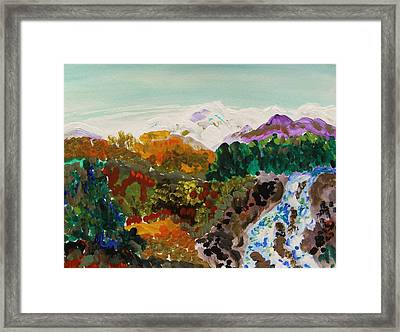 Mountain Water Framed Print by Mary Carol Williams