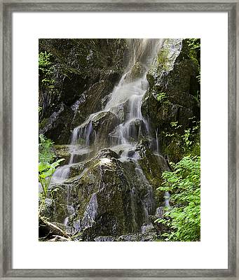 Mountain Waterfall Framed Print