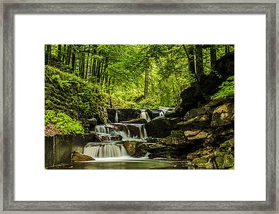 Mountain Waterfall Framed Print by Jaroslaw Grudzinski