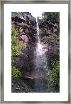 Framed Print featuring the photograph Mountain Waterfall by Fortunate Findings Shirley Dickerson