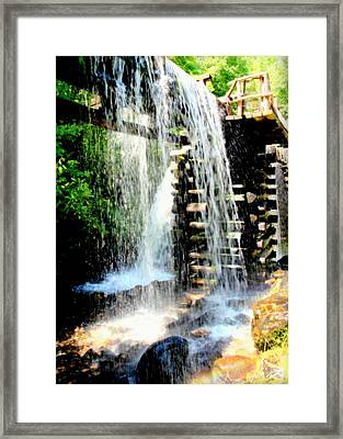 Mountain Waters Framed Print by Karen Wiles