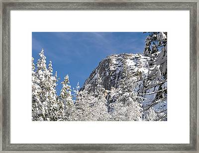 Mountaineering Cliff Climbing Destination Lover's Leap Near Lake Framed Print by Brandon Bourdages