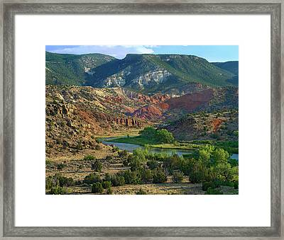 Mountainous Landscape Of Rio Chama Framed Print
