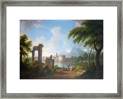 Mountainous River Landscape Framed Print