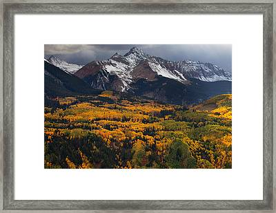 Mountainous Storm Framed Print by Darren  White