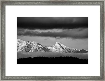 Mountains And Clouds Framed Print