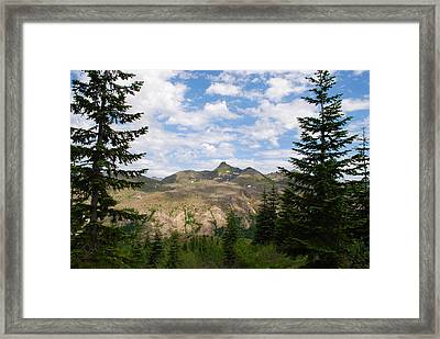 Framed Print featuring the photograph Mountains And Fir Trees by Robert  Moss