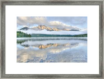 Mountains And Fog Framed Print
