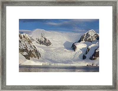 Mountains And Glacier At Sunset Framed Print by Suzi Eszterhas