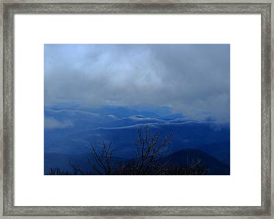 Mountains And Ice Framed Print by Daniel Reed