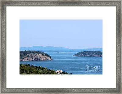 Mountains And Islands Framed Print by Kathleen Garman