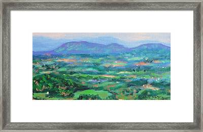 Mountains And Valleys- Summertime Along The Blue Ridge Parkway Framed Print