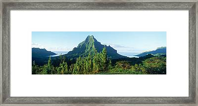 Mountains At A Coast, Belvedere Point Framed Print by Panoramic Images