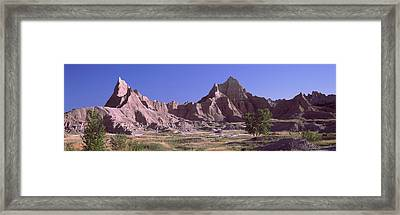 Mountains At Badlands National Park Framed Print