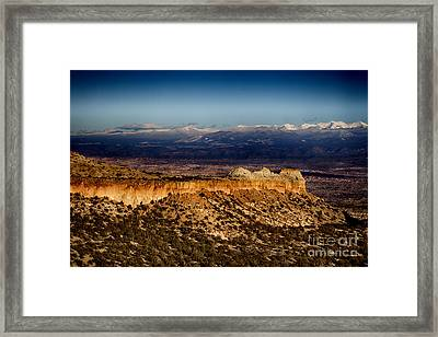Mountains At Senator Clinton P. Anderson Scenic Route Overlook  Framed Print
