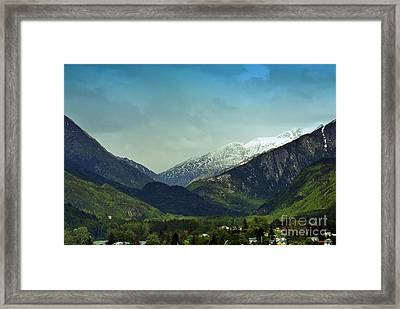 Mountains Beyond Skagway Framed Print