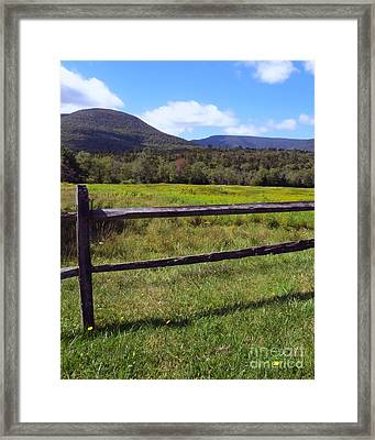 Mountains Beyond The Fence Framed Print