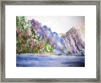 Mountains By The Sea Framed Print