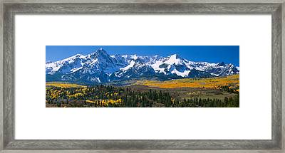 Mountains Covered In Snow, Sneffels Framed Print by Panoramic Images