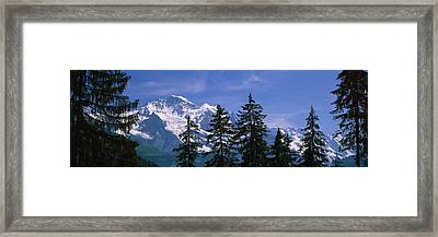 Mountains Covered With Snow, Swiss Framed Print
