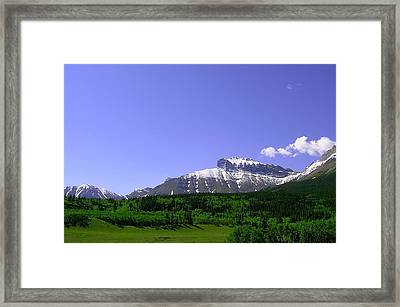 Mountains Crowsnest Framed Print by Mavis Reid Nugent