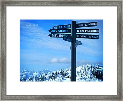 Mountains Everywhere Framed Print