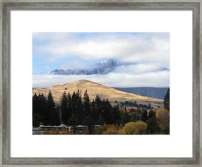 Mountains For And Aft Framed Print by Ron Torborg