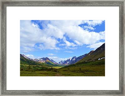 Mountains In Anchorage Alaska Framed Print