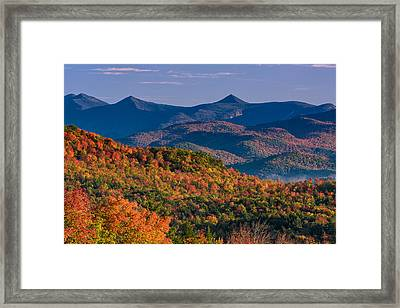Mountains In Color Framed Print by Jeff Sinon