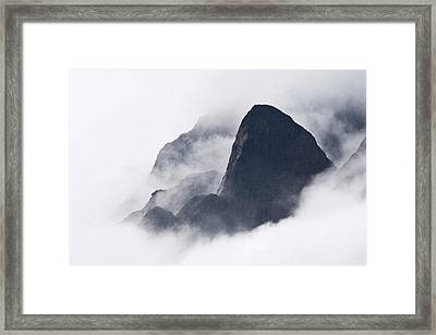 Mountains In Fog, Prince Christian Framed Print by Daisy Gilardini
