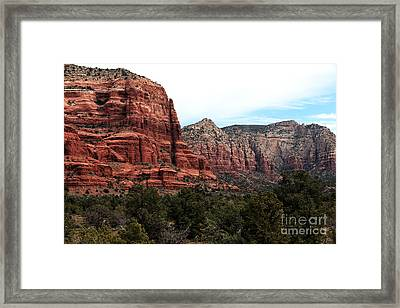 Mountains In Sedona Framed Print by John Rizzuto