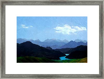 Mountains In Shadow Framed Print