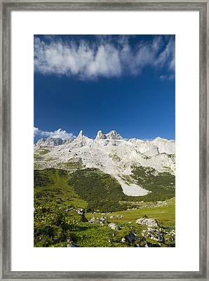 Mountains In The Alps Framed Print by Chevy Fleet