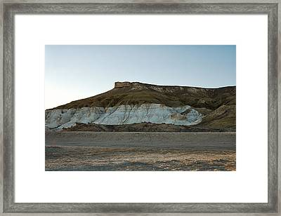 Mountains In The Desert. Framed Print by Alexandr  Malyshev