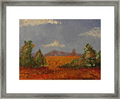 Mountains In The Distance 1 Framed Print by Paul Benson