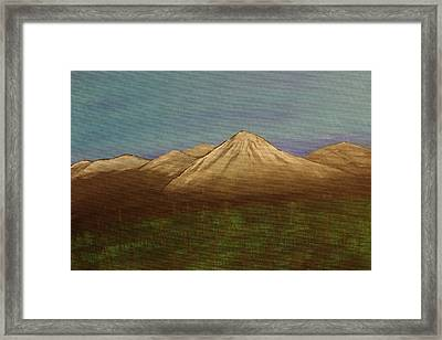 Mountains In The Mists Framed Print by Keith Nichols