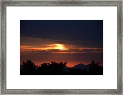 Mountains In The Sky Framed Print