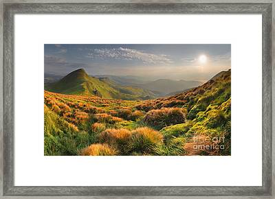 Mountains Landscape Framed Print by Boon Mee