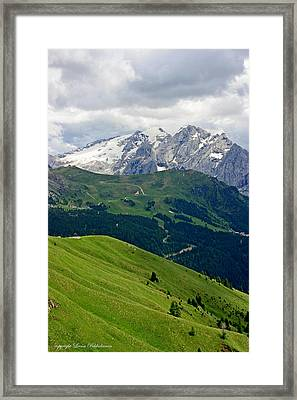 Framed Print featuring the photograph Mountains by Leena Pekkalainen