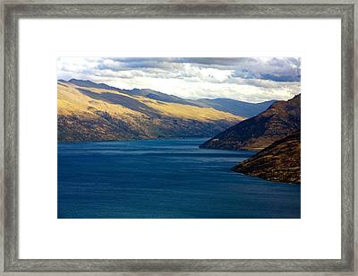 Framed Print featuring the photograph Mountains Meet Lake #2 by Stuart Litoff