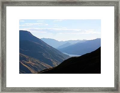 Framed Print featuring the photograph Mountains Meet Lake #3 by Stuart Litoff