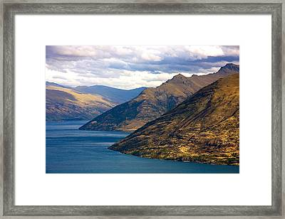 Mountains Meet Lake Framed Print