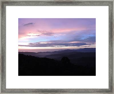 Mountains Meet Sea Framed Print by Gregory Young