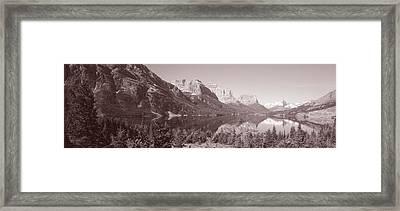 Mountains, Mountainscape, Wild Goose Framed Print