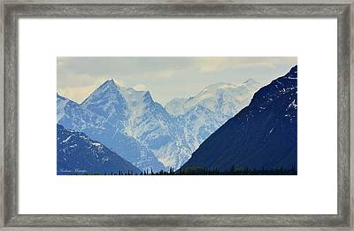 Mountains Near Matanuska Glacier Framed Print